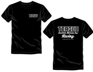 TEAGUE RACING TEE BLACK