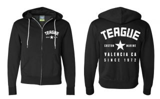 Picture of TEAGUE VARSITY STAR LOGO ZIPUP HOODIE