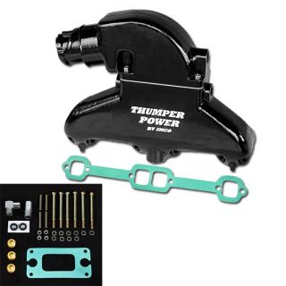 Thumper Power Small Block Manifold & Riser Kit Black