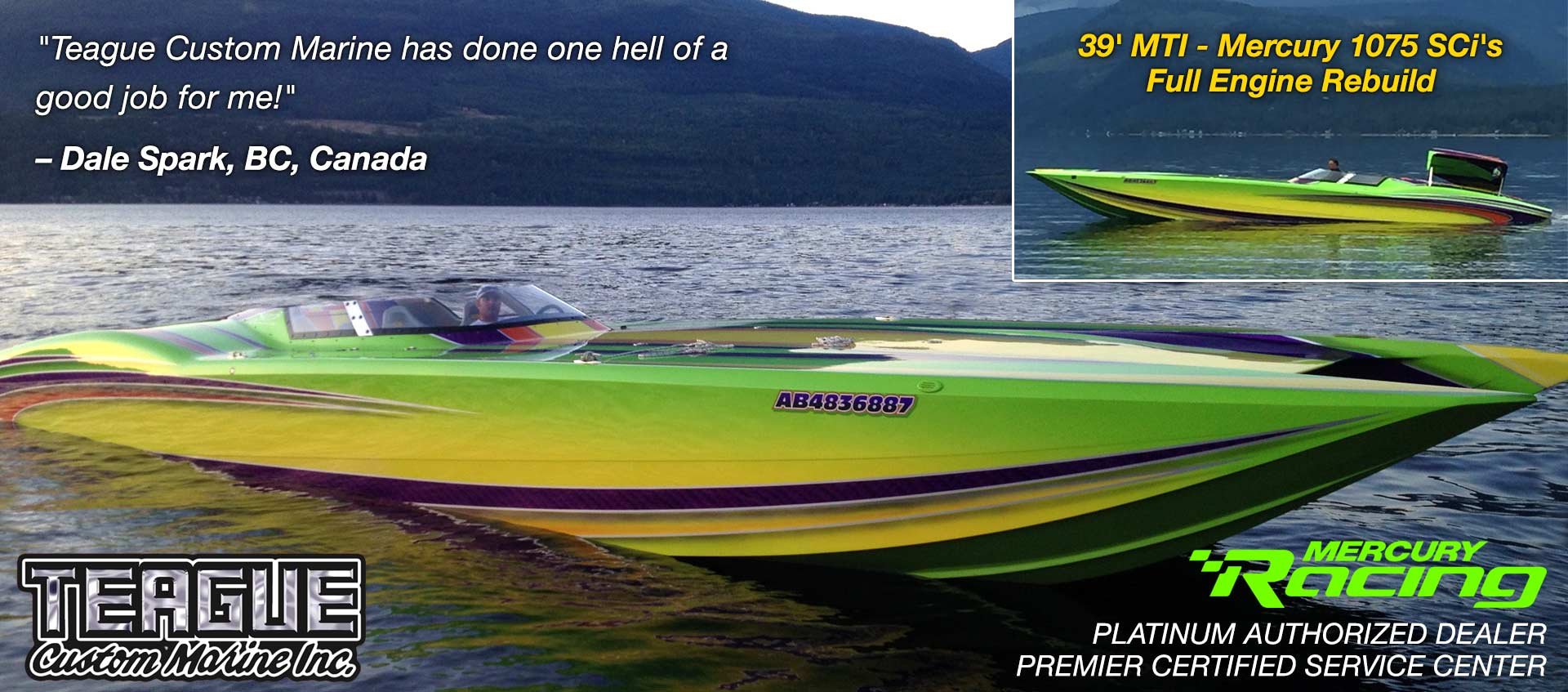 Testimonial: Teague Custom Marine has done one hell of a job for me!