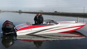 First Adrenaline 26 Savage Approaches 110 MPH With Twin Mercury Racing 300R Engines